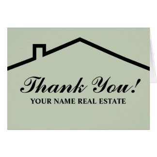 Real estate thank you note cards for business