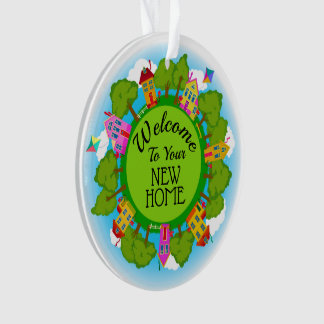 """Real Estate """"Welcome Home"""" New Home Ornament"""
