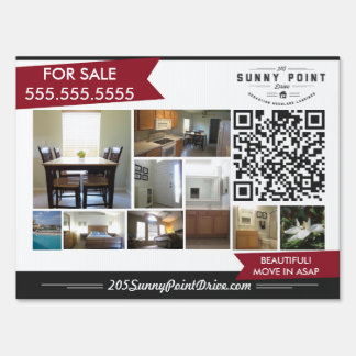 Real Estate Yard Sign - House For Sale or Rent