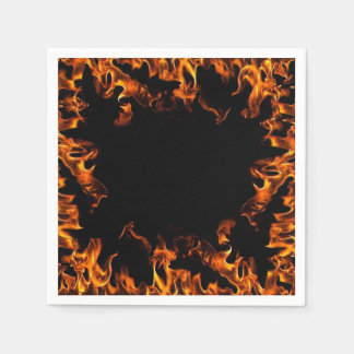 real fire flame napkins orange yellow black