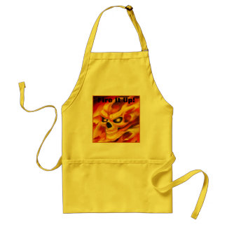 Real Fire Skull Apron