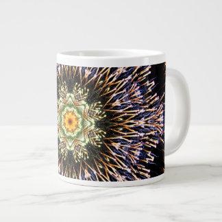 Real Firework Mandala Large Coffee Mug