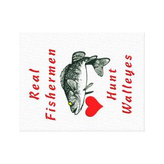 Real Fishermen Hunt Walleyes Canvas Prints