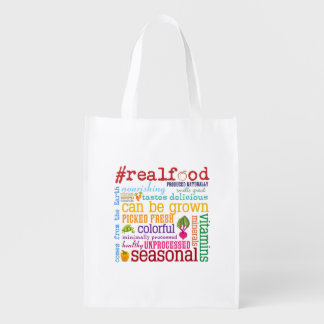 Real Food Reusable Grocery Bag