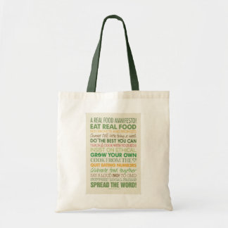 Real Food Tote Bag