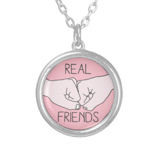 Real Friend Fist Bump Silver Plated Necklace