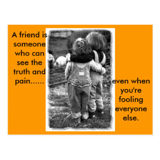 real_friends, A friend.. Postcard