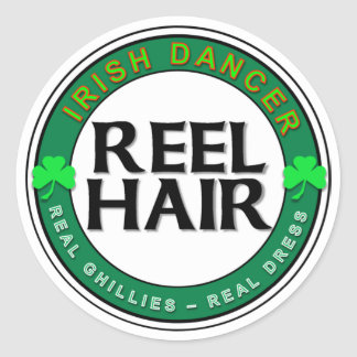 Real Ghillies, Real Dress, REEL HAIR Classic Round Sticker