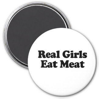 Real Girls Eat Meat 3 Inch Round Magnet