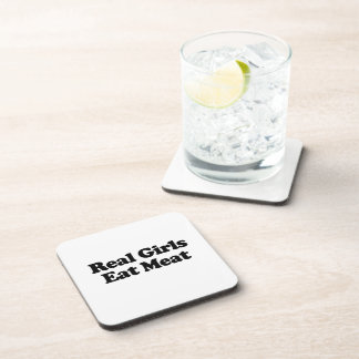Real Girls Eat Meat .png Coaster