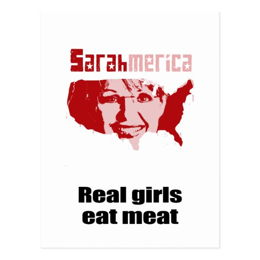 Real girls eat meat post cards