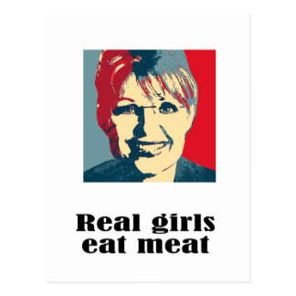 Real girls eat meat postcards