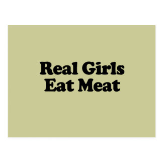 Real Girls Eat Meat Postcard