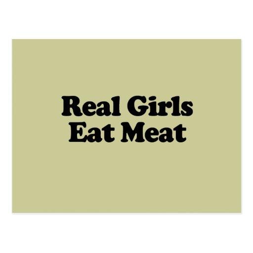 Real Girls Eat Meat Postcard