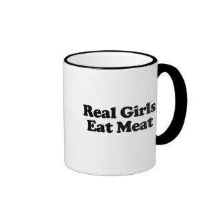 Real Girls Eat Meat Ringer Mug