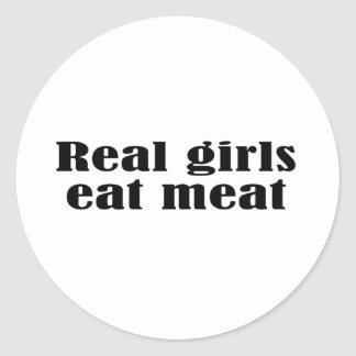 Real girls eat meat stickers