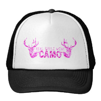 REAL GIRLS WEAR CAMO TRUCKER HAT