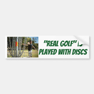 """Real Golf"" is Played with DISCS sticker"