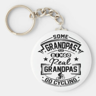 Real Grandpas Go cycling Basic Round Button Keychain