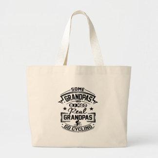 Real Grandpas Go cycling Large Tote Bag