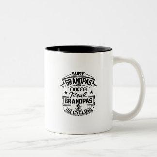 Real Grandpas Go cycling Two-Tone Coffee Mug