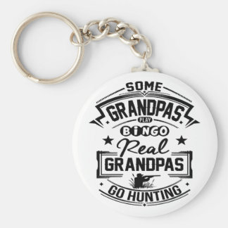 Real Grandpas Go Hunting Basic Round Button Keychain