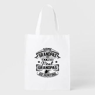 Real Grandpas Go Hunting Reusable Grocery Bag