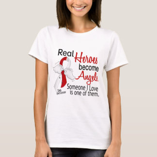 Real Heroes Become Angels Oral Cancer T-Shirt