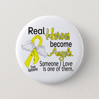 Real Heroes Become Angels Sarcoma 2 Inch Round Button