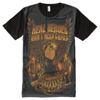 Real Heroes Don't Need Capes All-Over-Print T-Shirt