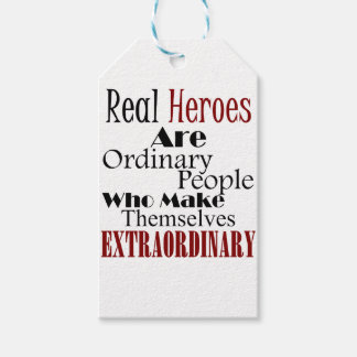 Real Heroes Extraordinary People Gift Tags