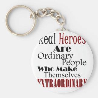 Real Heroes Extraordinary People Keychain