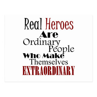 Real Heroes Extraordinary People Postcard