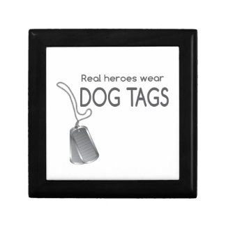 Real heroes wear dog tags jewelry box