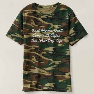real heros wear dog tags salute to armed forces t-shirt