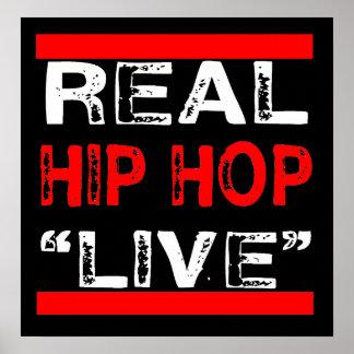 "Real Hip HOp ""LIVE"" Poster"