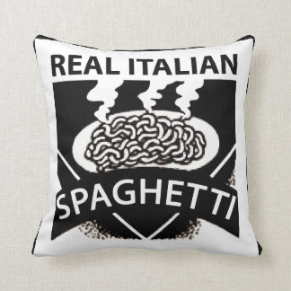 Real Italian Spaghetti Throw Pillow