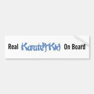 Real Karate Kid- bumper sticker