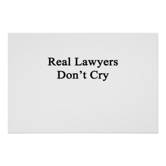 Real Lawyers Don't Cry Poster