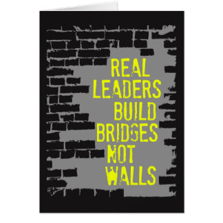 Real Leaders Dark Greeting Card