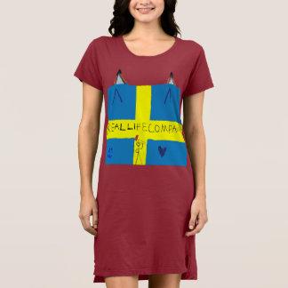 REAL LIFE Company LOGA T-Shirt dress Concrete
