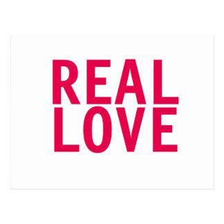 REAL LOVE Postcard