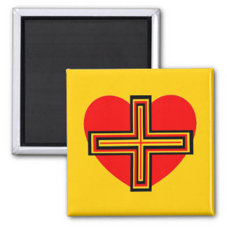 Real Love Square Magnet