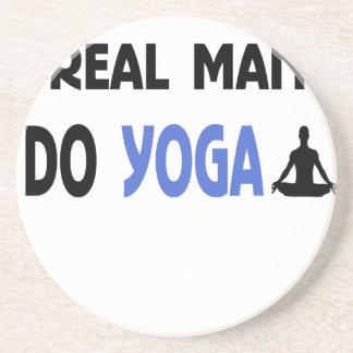 real man do yoga coaster
