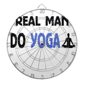 real man do yoga dartboard