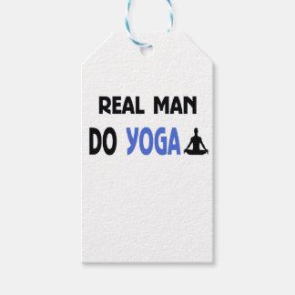 real man do yoga gift tags