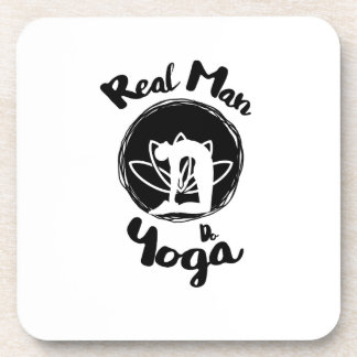 Real Man Do Yoga Lover Funny Gift  For Mens Coaster