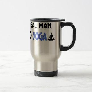 real man do yoga travel mug