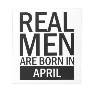 Real Men April Notepad
