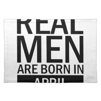 Real Men April Placemat